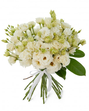 Lisianthus bouquet White