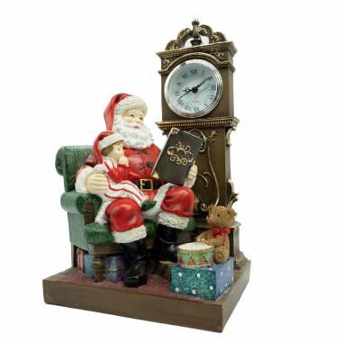 Babbo Natale con Orologio in Resina