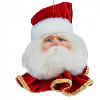 Testa di Babbo Natale da Appendere...