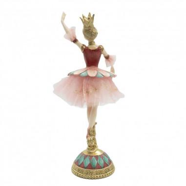 Fata Ballerina in Resina Rosa con...
