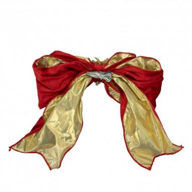 Fiocco in Velluto Rosso e Oro con...