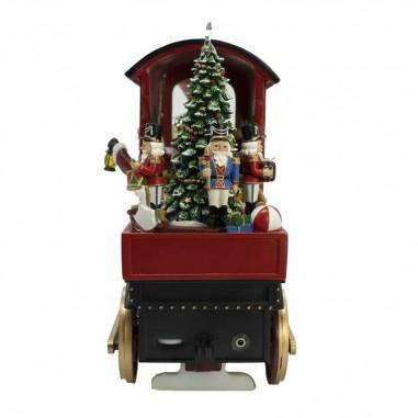 Trenino con Babbo Natale alla Guida...