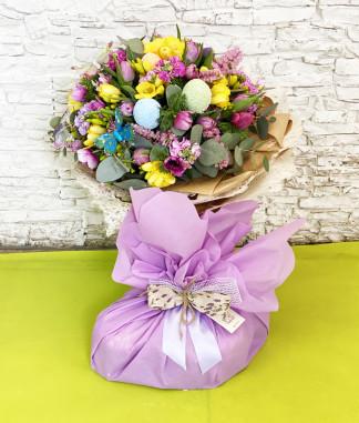 Bouquet Pasqua con Colomba artigianale