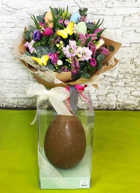 Bouquet Pasqua con uovo artigianale