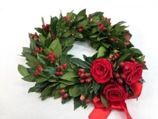 Coroncina di alloro per Laurea + Rose online